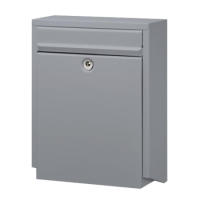DAD Decayeux D100 Series Post Box Silver Grey