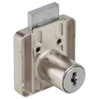 "RONIS 4500 Square Drawer Furniture Lock 22mm NP KD under ""SM"" MK Series"