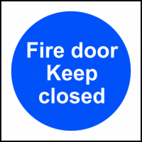 ASEC `Fire door Keep closed` Sign 100mm x 100mm 100mm x 100mm (discontinued by Mfr.)