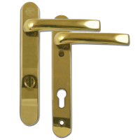 MILA Kite Secure PAS24 2 Star 220mm Lever/Lever Door Furniture Gold - Visi