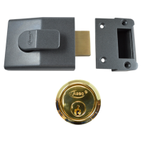 ASEC AS11 Deadbolt Nightlatch 60mm DMG Case with PB Cylinder Boxed