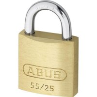 ABUS 55 Series Brass Open Shackle Padlock 24mm KA (5251) 55/25 Boxed