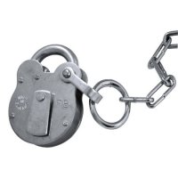 WALSALL LOCKS FB Old English Padlock FB1 53mm GALV KA c/w 400mm Chain
