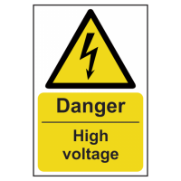 ASEC `Danger: High Voltage` Sign 200mm x 300mm 200mm x 300mm
