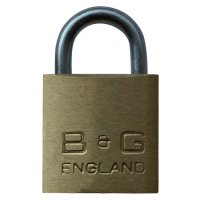 B&G Warded Brass Open Shackle Padlock - Steel Shackle 32mm KA `D4` - D101