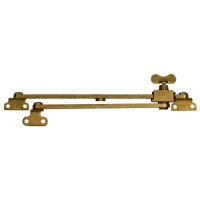 STEEL WINDOW FITTINGS B59 OG Slide Stay Butterfly 250mm x 190mm Antique Brass
