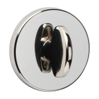 URFIC Easy Click Bathroom Turn and Release Polished Nickel