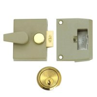 UNION 1026, 1027 & 1028 Non-Deadlocking Nightlatch 1027 - 40mm CG Case - PL Cyl Visi