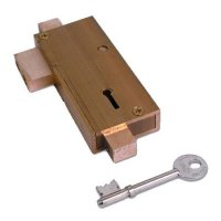 Union 21077 5 Lever APG Glass Door Deadlock SB KA (KYY 567)