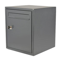 DAD Decayeux DAD009 Secured By Design Post Box Grey