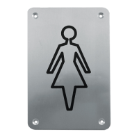 DORTREND 8071 Female Door Sign PA