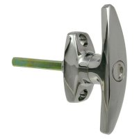 L&F 1638 Large `T` Garage Door Handle CP 70mm Spindle