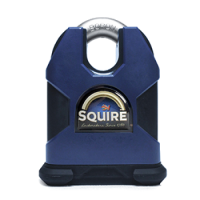SQUIRE Stronghold Closed Shackle Padlock Body Only To Take Scandinavian Oval Insert 80mm Tang