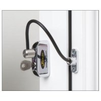 JACKLOC Lockable Cable Window Lock Chrome (black sleeve)