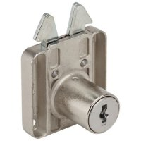 RONIS 6900 Square Claw Drawer Furniture Lock 22mm NP MK (SM Series)