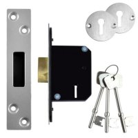 WILLENHALL LOCKS M8 5 Lever Deadlock 50mm SC KD Boxed