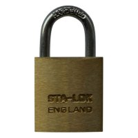 B&G STA-LOCK C Series Brass Open Shackle Padlock - Steel Shackle 25mm KD - C100