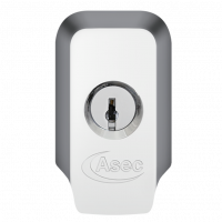 ASEC High Security Rim Cylinder Pull With Cylinder Chrome Plated