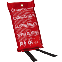 ABUS LD1118 Fire Blanket - 1m x 1m Red