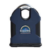 SQUIRE SS100 Stronghold Closed Shackle Dual Cylinder Padlock SS100CS/KD