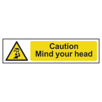 ASEC `Caution: Mind Your Head` Sign 200mm x 50mm 200mm x 50mm