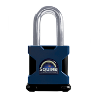 SQUIRE Stronghold Long Shackle Padlock Body Only To Take Scandinavian Oval Insert 65mm Tang