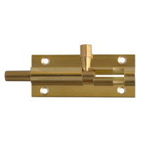 ASEC VITAL Brass 25mm Wide Straight Barrel Bolt 63mm