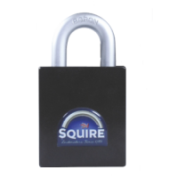 SQUIRE Stronghold Open Shackle Padlock Body Only To Take Half Euro Cylinder 65mm