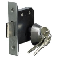 ASEC BS3621 Double Euro Mortice Deadlock 76mm SC KD Boxed