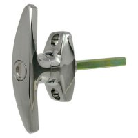 L&F 1638 Large `T` Garage Door Handle CP 45mm Spindle