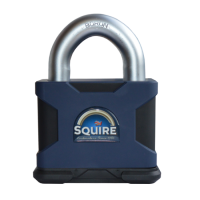 SQUIRE SS100 Stronghold Open Shackle Dual Cylinder Padlock SS100S/KA