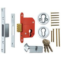 ERA 233 Fortress BS Euro Keyless Egress Key & Turn Deadlock With Cylinder 64mm SC KD Boxed