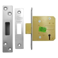 ASEC 5 Lever Deadlock 64mm SS KD (Boxed)