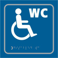 ASEC `Disabled` 150mm x 150mm Taktyle (Braille) Self Adhesive Sign 1 Per Sheet