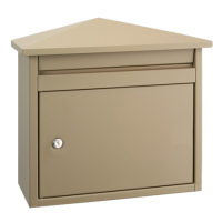 DAD Decayeux D560 Series Post Box Beige