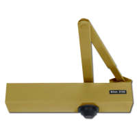 BRITON 2130B Size 2-6 Overhead Door Closer With Backcheck Brass (PBS)