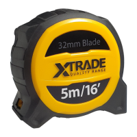 Robust Retractable 32mm Wide Tape Measure 5 Meter