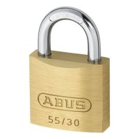 ABUS 55 Series Brass Open Shackle Padlock 29mm KD 55/30 Visi