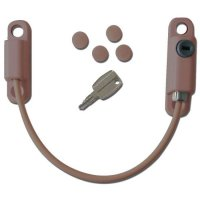 ASEC 150mm Locking Cable Window Restrictor Brown
