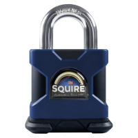 SQUIRE Stronghold Marine Open Shackle Padlock Body Only To Take KIK-SS Insert 50mm