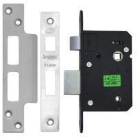 Legge 2643 & 2763 3 Lever Sashlock 76mm SS KD Bagged (discontinued by Mfr.)