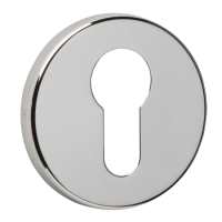 URFIC Easy Click Euro Escutcheon Stainless Steel Effect