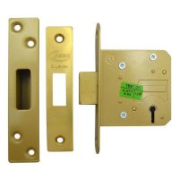 ASEC 5 Lever Deadlock 64mm PB KD (Boxed)