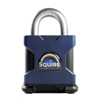 SQUIRE Stronghold Open Shackle Padlock Body Only To Take Scandinavian Oval Insert 50mm Slot
