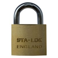 B&G STA-LOCK C Series Brass Open Shackle Padlock - Steel Shackle 51mm KD - C250
