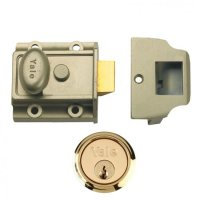 YALE 77 & 706 Non-Deadlocking Traditional Nightlatch 40mm ENB with PB Cylinder Boxed