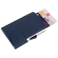 BEE-SECURE C-Secure Leather RFID Flip Up Wallet Blue Leather (discontinued by Mfr.)