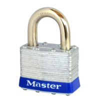 MASTER LOCK Open Shackle Unassembled Laminated Padlock 1UP Standard Shackle