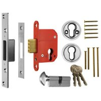 ERA 233 Fortress BS Euro Keyless Egress Key & Turn Deadlock With Cylinder 64mm PC KD Boxed