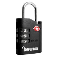 DEFENDER TSA Travel Sentry Padlock - Combi Locking 35mm Single Combi